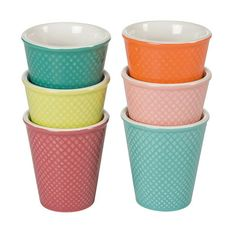 Gobelets porcelaines comptoirs de famille. Ø 6.3 x H. 7 cm - 8 cl