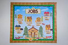Classroom Jobs Bulletin Board-Rustic Retreat from Debbie Mumm