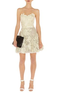 Karen Millen Romantic Embroidery Strapless Tutu Dress Ivory...LOVE THIS