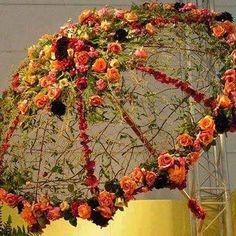 New Bridal Bouquet Diy Silk Fresh Flowers Ideas Arte Floral, Deco Floral, Floral Design, Floral Umbrellas, Umbrellas Parasols, Decoration Evenementielle, Fresh Flowers, Diy Flowers, Faux Flowers