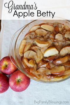 Apple Betty, the ultimate comfort food. Check out my Grandma's amazing Apple Betty Recipe! #PotPiePlease #ad