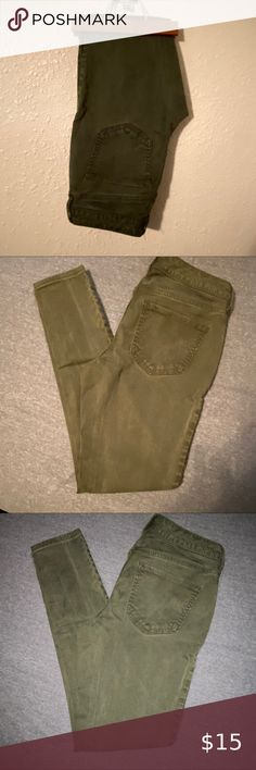 A:Glow Maternity ~ NWT New 6 12 14 ~ Army Green Military Ultility Capris Pants