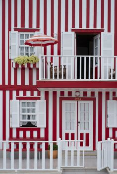 Red & White Striped House, Costa Nova, Portugal