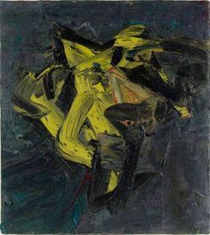 Reclining Head of J. Y. M.  by Frank Auerbach