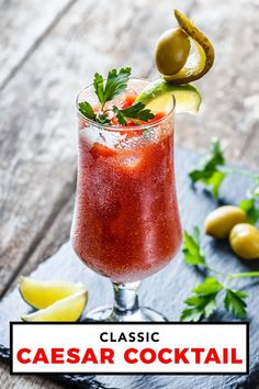 An easy recipe for one of the few things that is solely Canadian, the Caesar drink is similar to a bloody mary but is inspired by Italy. Caesar Drink, Caesar Cocktail, Cocktail Drinks, Cocktail Recipes, Cocktails, Drink Recipes, Easy Meals For One, Around The World Food, Magic Recipe