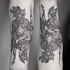 What does woodcut tattoo mean? We have woodcut tattoo ideas, designs, symbolism and we explain the meaning behind the tattoo. Natur Tattoos, Kunst Tattoos, Body Art Tattoos, Sleeve Tattoos, 16 Tattoo, Dark Tattoo, Medieval Tattoo, Woodcut Tattoo, Occult Tattoo