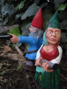 Zombie Gnomes The Family Pack by ChrisandJanesPlace on Etsy, $38.00