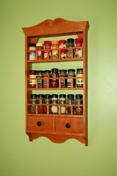 Cherry Spice Rack and Recipe Holder by ShirlingtonWoodWorks, $199.00