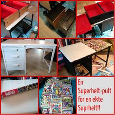 HJERTEHJORT: En Superhelt-skrivepult for en EKTE superhelt! A Superhero Desk for a Real Superhero!