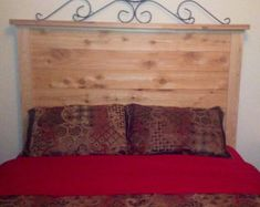Items similar to Hardwood Notched timber bed frame and headboard on Etsy Timber Bed Frames, Timber Beds, Bed Frame And Headboard, Hope Chest, Plank, Beams, Storage Chest, Mattress, Hardwood