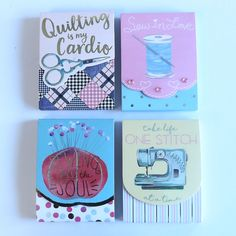 Here's a set of 4 note pads. Oh so cute!  FREE SHIPPING this week at beehappyquilting.com