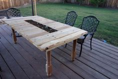 Pallet Garden Table with Planter