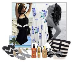 """Untitled #420"" by misaflowers ❤ liked on Polyvore featuring Sun Bum, Hawaiian Tropic, TTYA and Nine West"