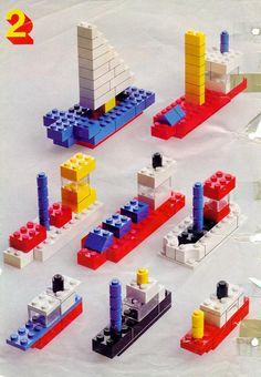 LEGO 222 Building Ideas Book instructions displayed page by page to help you build this amazing LEGO Books set Lego Duplo, Minifigures Lego, Lego Design, Lego Boot, Papier Kind, Lego Therapy, Lego Building, Building Ideas, Construction Lego