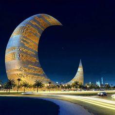 Crescent Moon Tower,Dubai.