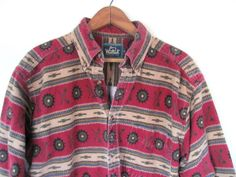 vintage 1990s red southwestern shirt // by dirtybirdiesvintage, $26.00