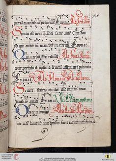 Antiphonarium Cisterciense Salem, um 1200 Cod. Sal. X,6b  Folio 155r