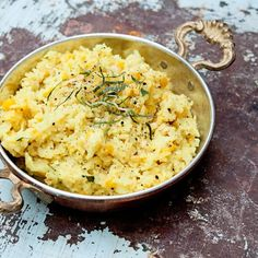 Pongal (creamy rice and dal dish with coconut and spices, often served at breakfast)   The Kitchn