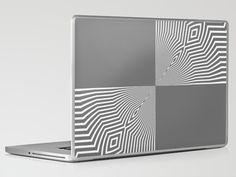 Shout! - Laptop & iPad skin - By: Lisa Argyropoulos - Gray, white, gear, skin, art, abstract, tech