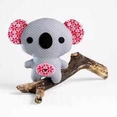 """Koala Knuffel naaipatroon uit het boek """"Amigurumi's Naaien""""."""