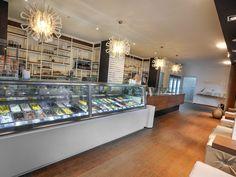 Modern style Ice Cream Parlour, very inviting. www.darrylsicecreamsolutions.com
