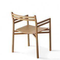 Contemporary chair / in wood / with armrest NEXTMARUNI by Harri Koskinen Maruni