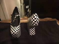 Jeffrey Campbell Black And White Checkered Wedge Black Wedge Sandals, Black Ballet Flats, White Flats, Ballerina Flats, Black Wedges, Loafers For Women, Gold Leather, Suede Heels, Jeffrey Campbell