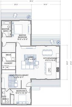 Blu Homes Breeze Aire floorplan 2 Bedroom / 2 Bath
