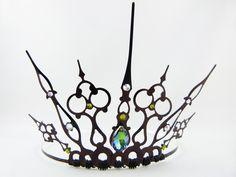 Black Filigree Gothic Tiara.