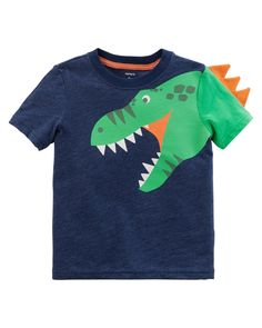 Toddler Boy Dinosaur Spike Tee | Carters.com