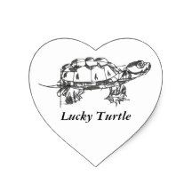 Lucky Turtle Heart Sticker. stickers with unique design, stationary with unique design, humorous stickers, creative stickers, special stickers, inspirational stickers, expressions on a sticker, unique bumper stickers, stickers for kids, stickers for adults, stickers for women, stickers for men, special stickers, different stickers, funny stickers, pretty stickers, cute stickers, stickers for wise quote, stickers of wisdom, funny bumper stickers