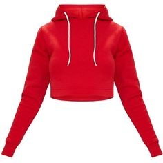 Red Ultimate Fleece Hoodie ($18) ❤ liked on Polyvore featuring tops, hoodies, fleece hooded sweatshirt, sweatshirt hoodies, hooded fleece pullover, fleece tops and hoodie top