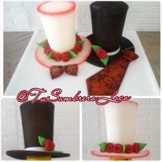 ca22af9685d44  Sombreros copa alta  corbata  corbatin de  novios para la  horaloca