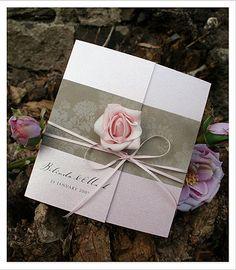 Enchanted Rose Wedding Invitations