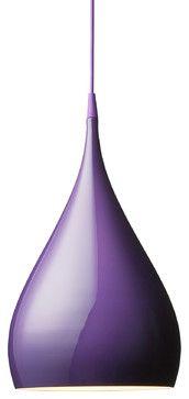 BH1 Spinning Pendant Lamp, Purple - modern - Pendant Lighting - Design Public