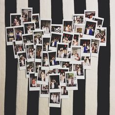 11-11-12 Palm Springs Wedding | Instax Heart Collage of Bridal Shower / Bachelorette Weekend Photo by @ tina