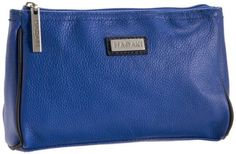 Hadaki Leather Scoop Pod Carry-All Cosmetic Bag,Cobalt Blue,One Size Hadaki. $32.00. leather