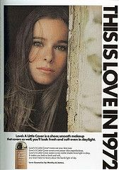 Geraldine Chaplin, Love cosmetics ad. Is it me, or does she look like Parker Posey?