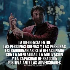 Discover recipes, home ideas, style inspiration and other ideas to try. Frases Rocky, Rocky Balboa Quotes, August Quotes, Positive Thinker, Quotes En Espanol, Motivational Phrases, Sylvester Stallone, Clint Eastwood, Spanish Quotes