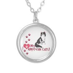I Love My American Curl! Necklace #cats #kittens #pets #animals #americancurl