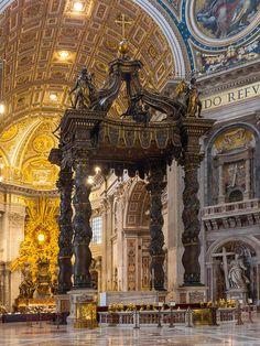 Baldaquin Bernin Saint-Pierre Vatican - Basílica de San Pedro -