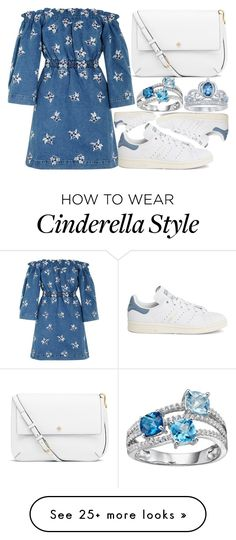 """""""Untitled #2492"""" by claudcsilva on Polyvore featuring Tory Burch, House of Holland, adidas and Disney"""