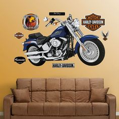 Fathead Harley-Davidson Fat Boy Wall Graphic - 16-00003