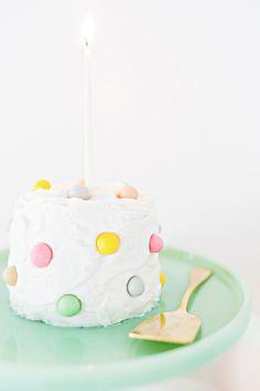 On birthday duty? Blow 'em away with this personal pom-pom cake. #recipes