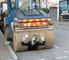 Banksy - Steamroller