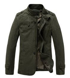Men's Casual Cotton Lightweight Jacket Outwear for Slim Person at Amazon Men's Clothing store: Winter Jackets Coats Outwear Men