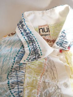 """Special Invitation to """"iris Gakuen Nui (nui) project shirt Exhibition""""   Io graphics  machine embroidery and hand work"""