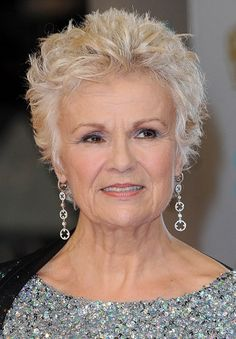 Julie Walters-Classy Celebrity Hairstyles for Women with Gray Hair l www.sophisticatedallure.com