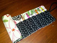 Floral Crayon Roll by SchwepersStitches on Etsy, $8.00