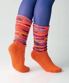 Socken mit eingewebten Kordeln by Charles D. Gandy, R0244 - Gratisanleitung